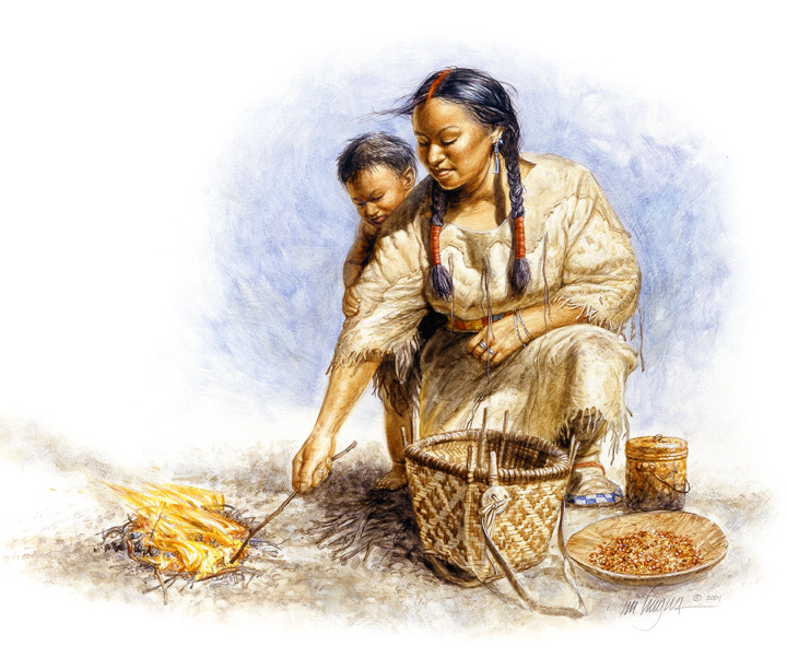 Sacagawea with her son Baptiste. Painting by Michael Haynes. http://www.mhaynesart.com/Images/22/98/OriginalImage.jpg